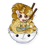 Ramen Noodle Girl Sticker - NekoCreations