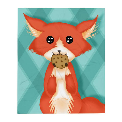 Cookie Fox Throw Blanket - NekoCreations