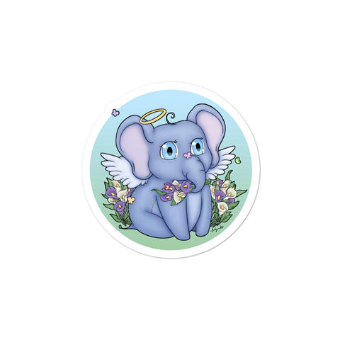 Elephant Angel Sticker - NekoCreations