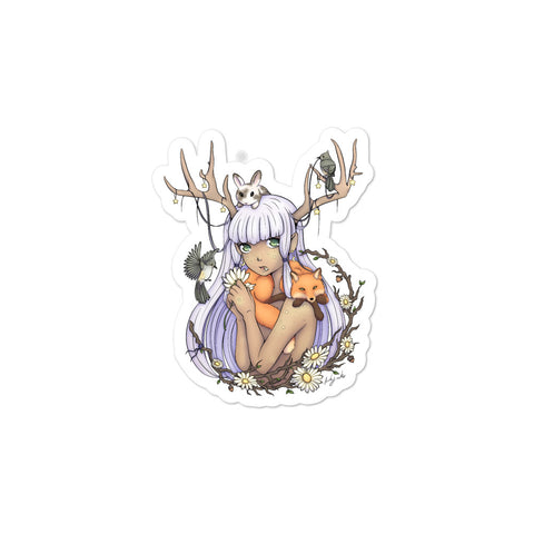 Woodland Forest Spirit Antelle Sticker