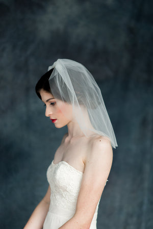Double Tier Blusher Bubble Pouf Veil - Handmade in Toronto - Blair Nadeau Millinery - Whitney Heard Photography