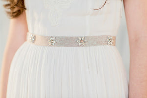 MURIEL Starburst Crystal Dress Belt  (More Colours & Lengths)
