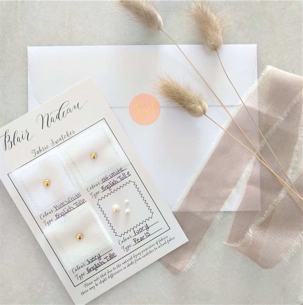 Tulle Veiling Swatch Cards (More Colours & Lengths)