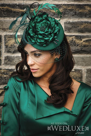 KATHARINE Emerald Green Fascinator (More Colours)