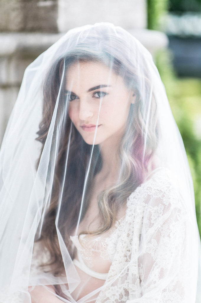 Four Tier Full Volume Bridal Veil - Handmade in Toronto Canada - Blair Nadeau Bridal Adornments - Whitney Heard Photography