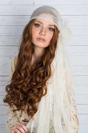 GARBO Polka Dot Juliet Cap Bridal Veil (More Colours & Lengths)
