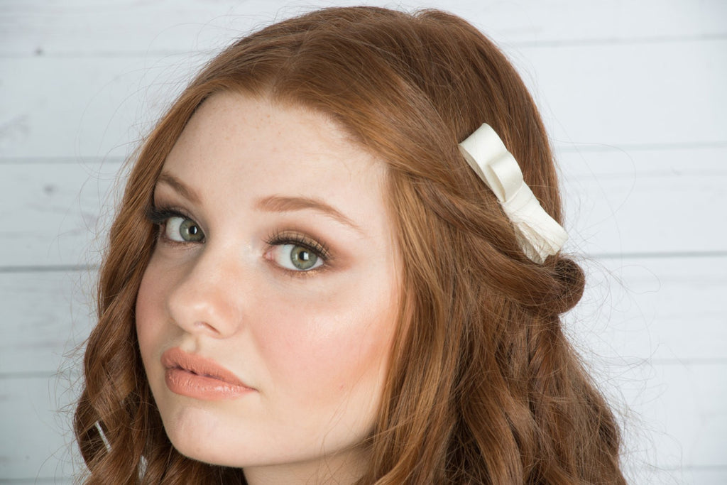 ELLA Silk Bridal Hair Bow