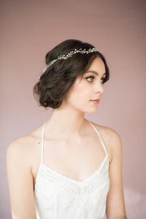 JANET Pearl & Crystal Hair Vine Crown (More Colours)