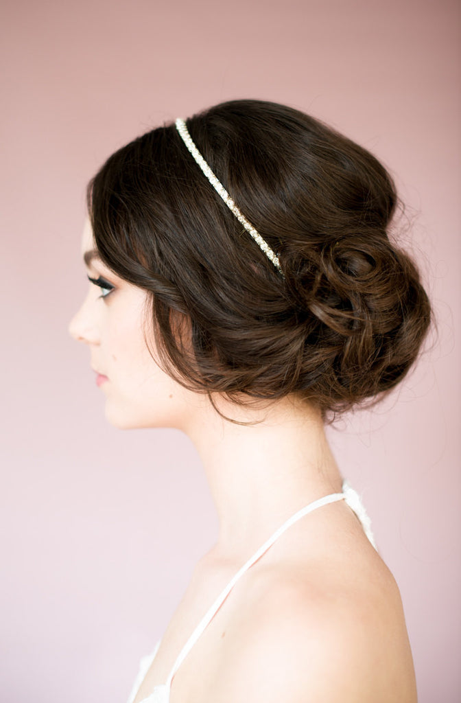 NANCY Crystal & Pearl Headband