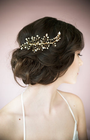 KATYA Crystal & Pearl Hair Comb (More Colours)