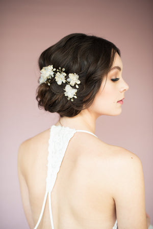 KIANA Bridal Flower Hair Vine (More Colours)