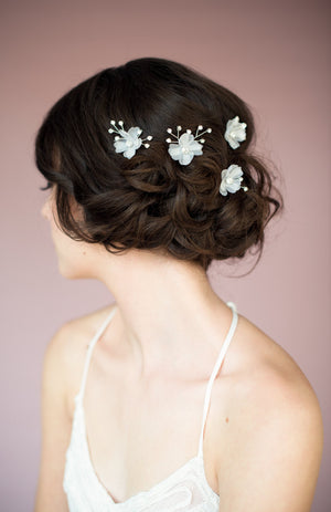 SUSIE Crystal Flower Hair Pins
