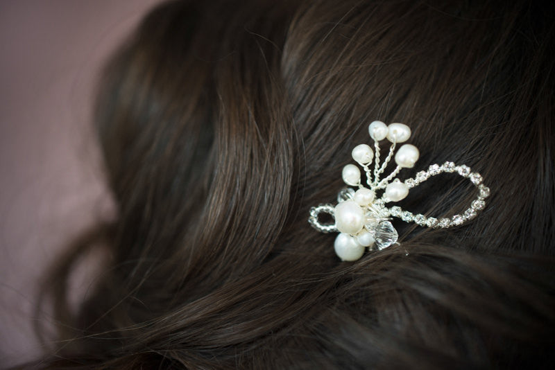 DONNA Crystal & Pearl Hair Pin
