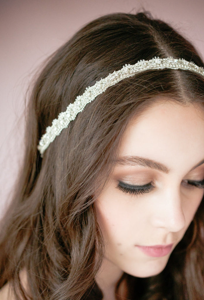 ANNE MARIE Crystal Lace Bridal Headband