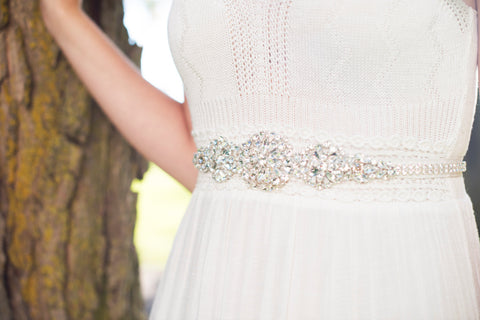 DORIS Crystal Beaded Dress Belt