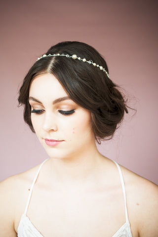 CHRISTIE Pearl Crystal Bridal Crown