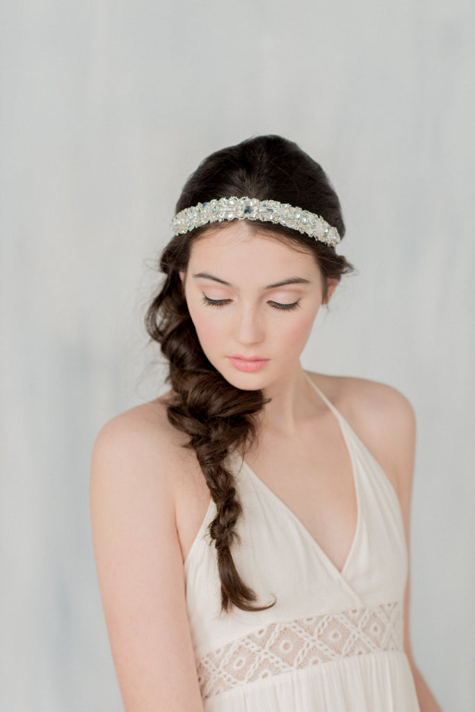 SANSA Crystal Beaded Headband