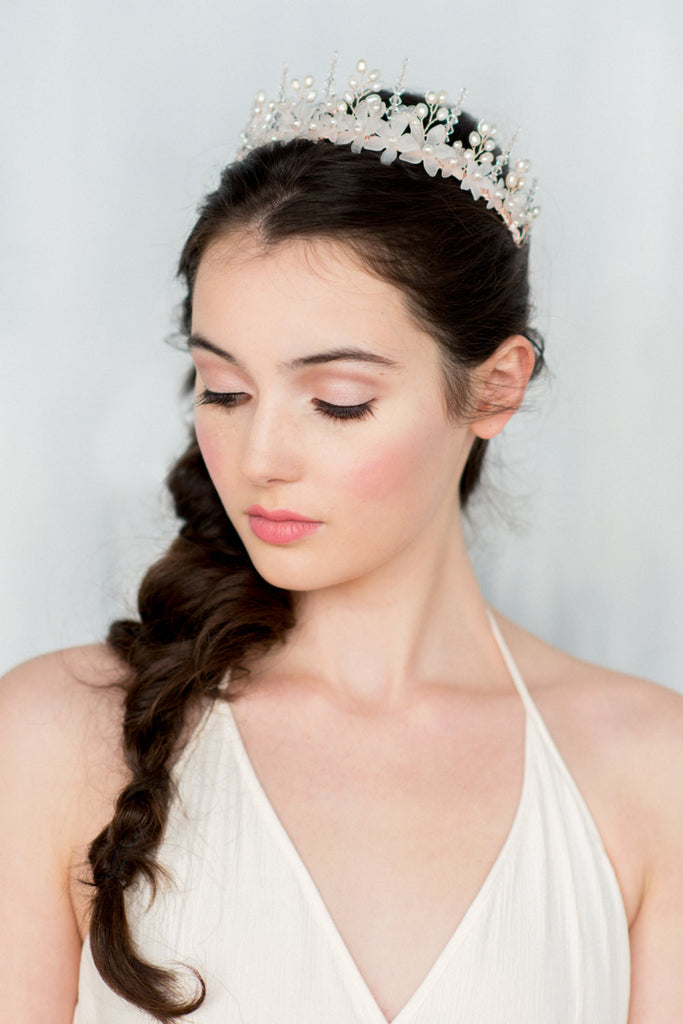 MATILDA Crystal Flower Bridal Crown