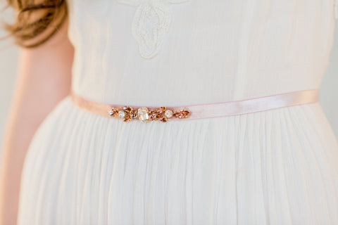 TATIANA Vintage Rose Dress Belt
