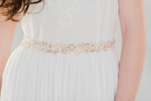 LOREENA Rose Gold Dress Belt  (More Colours & Lengths)
