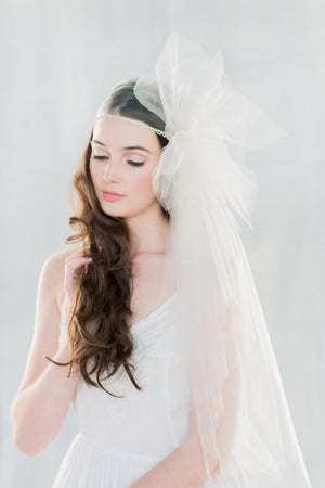 MAUDE Crystal Juliet Veil  (More Colours & Lengths) (More Colours & Lengths)