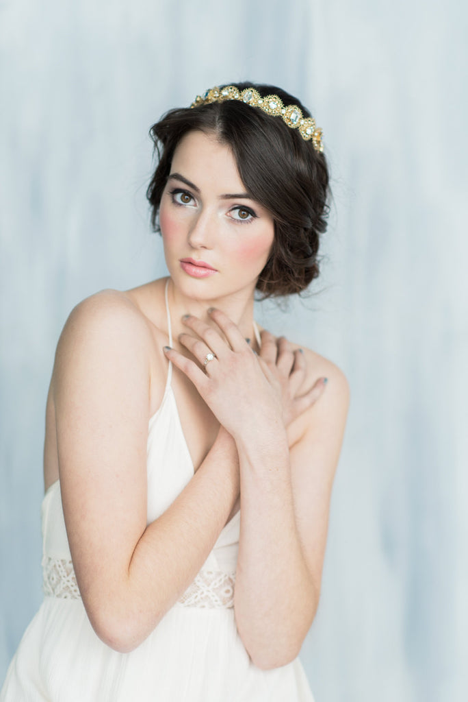 ELENORA Crystal Lace Crown