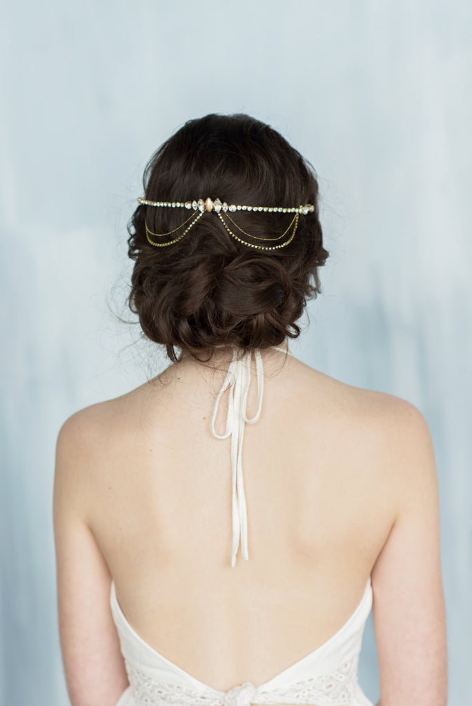 GISELLE Crystal Hair Chain