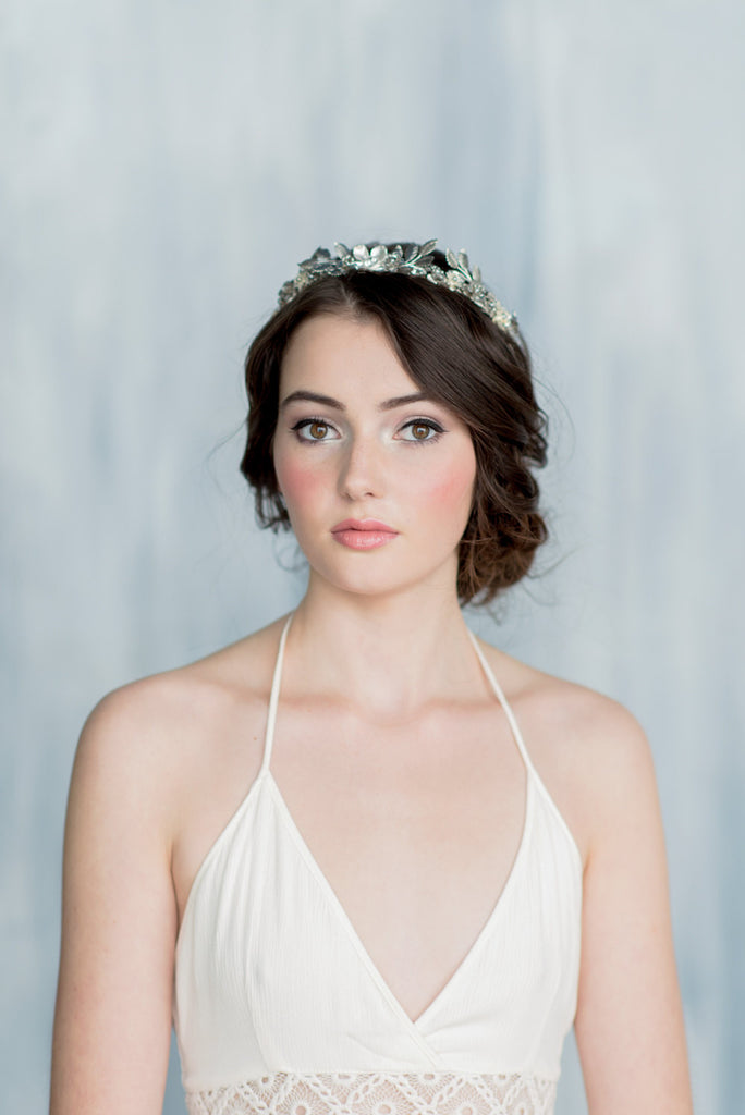 HELENA Laurel Leaf Bridal Crown