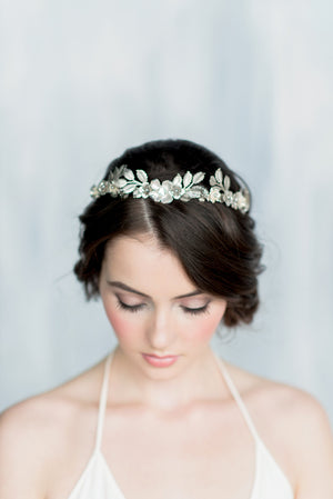 HELENA Laurel Leaf Bridal Crown (More Colours)