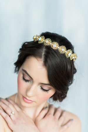 ELENORA Crystal Lace Crown (More Colours)