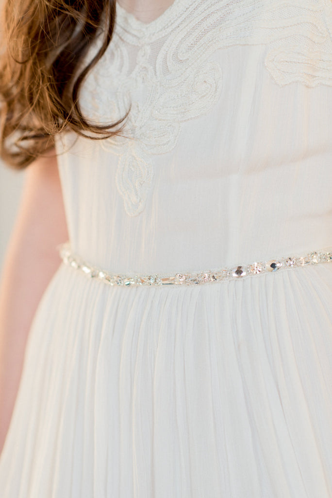 PAULINA Beaded Crystal Dress Belt
