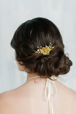 ELENA Gold Flower Hair Comb