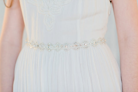 IRINA Lace Crystal Dress Belt