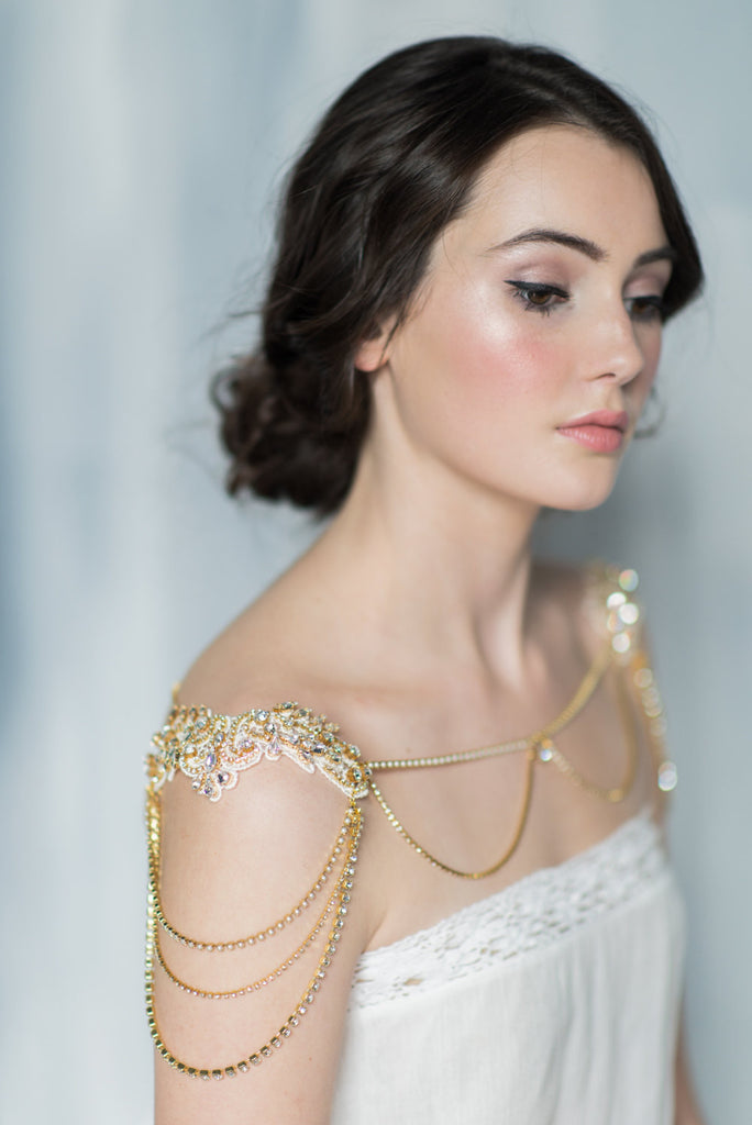 JACQUELYN Gold Shoulder Necklace