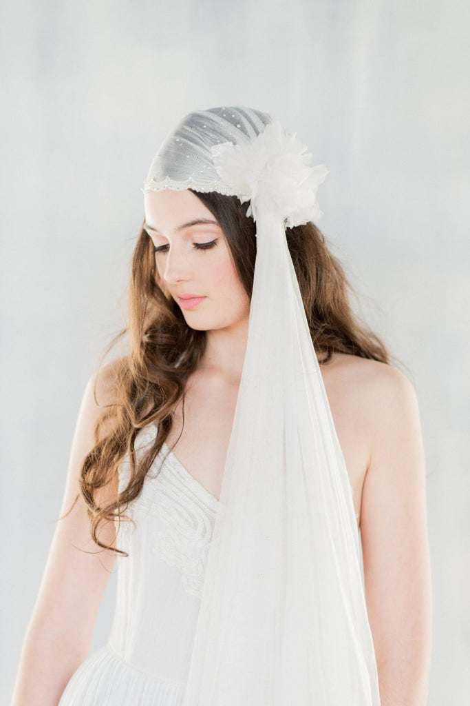 CECILY Bridal Juliet Cap Veil (More Lengths)