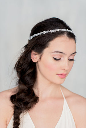 MARJOIRE Crystal & Pearl Bridal Crown (More Colours)