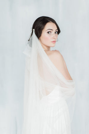 MARGARITE Draped Wedding Veil (More Colours & Lengths)