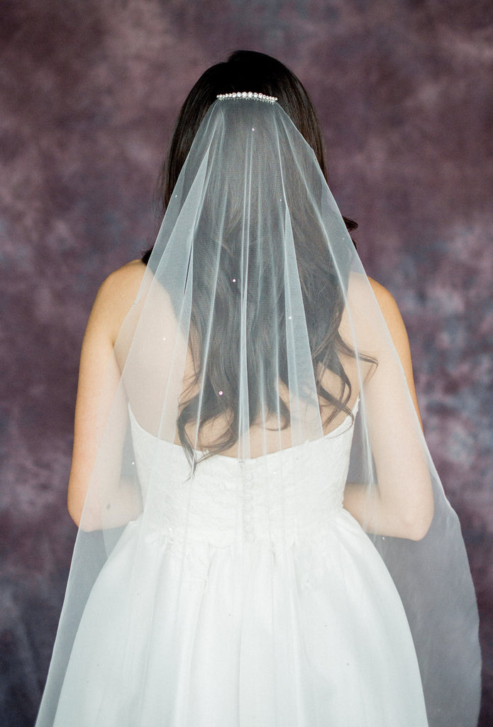 Scattered Crystal Bridal Veil - Handmade in Toronto Canada - Blair Nadeau Bridal Adornments - Whitney Heard Photography
