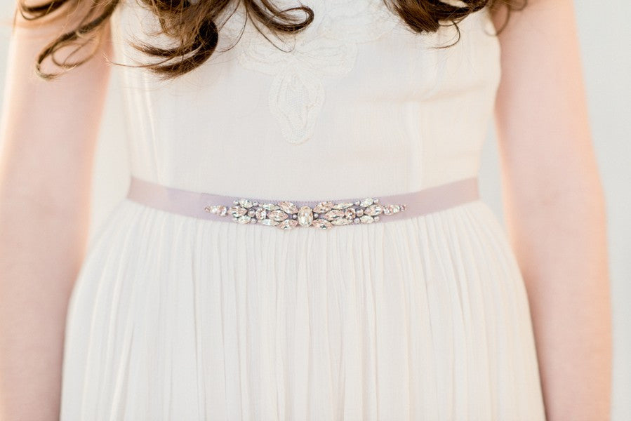 DORTHEA Crystal Beaded Wedding Dress Belt – Blair Nadeau Bridal ...