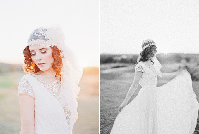 Vintage Inspired Crystal Juliet Cap Veil - Handmade in Toronto Canada - Blair Nadeau Millinery - Michelle March Photography Glamour and Grace Blog