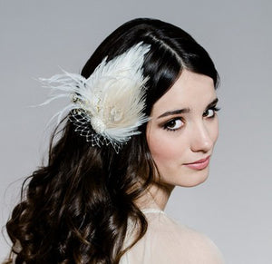 WHIMSICAL PEACOCK Feather Fascinator  (More Colours)