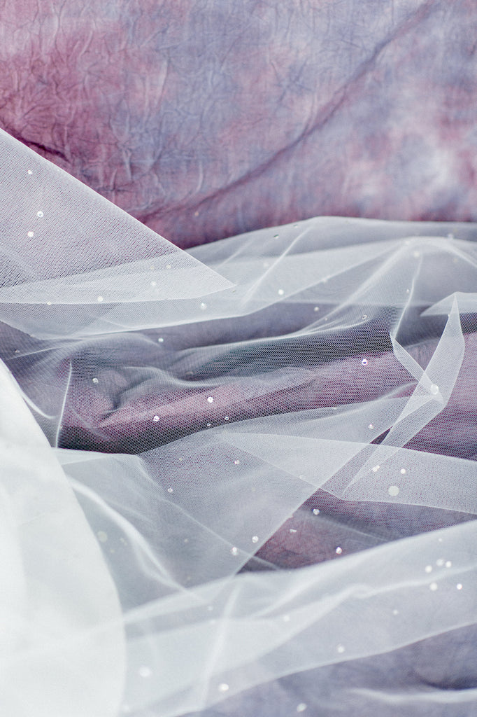 Scattered Swarovski Crystal Bridal Veil - Handmade in Toronto Canada - Blair Nadeau Bridal Adornments - Whitney Heard Photography