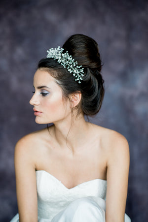 Ivory Babies Breath Bridal Crown - Handmade in Toronto Canada - Blair Nadeau Bridal Adornments - Whitney Heard Photography