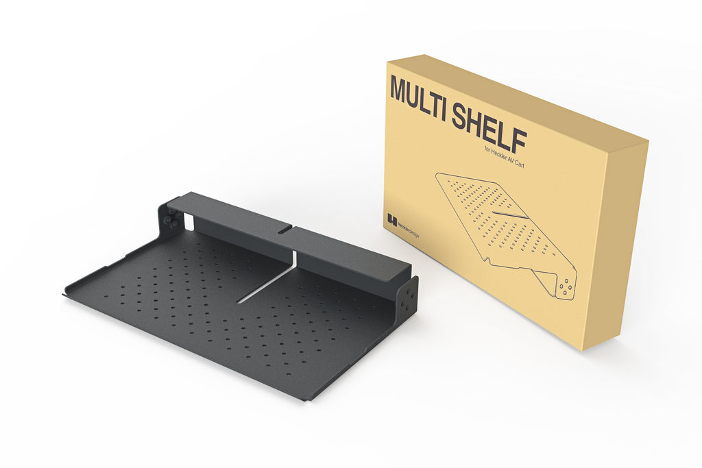 AV Cart, Shelf, Black Grey | Heckler Design