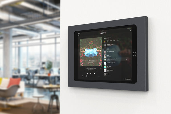 "Wall Mount w/ Power, iPad 10.2"", Black Grey 