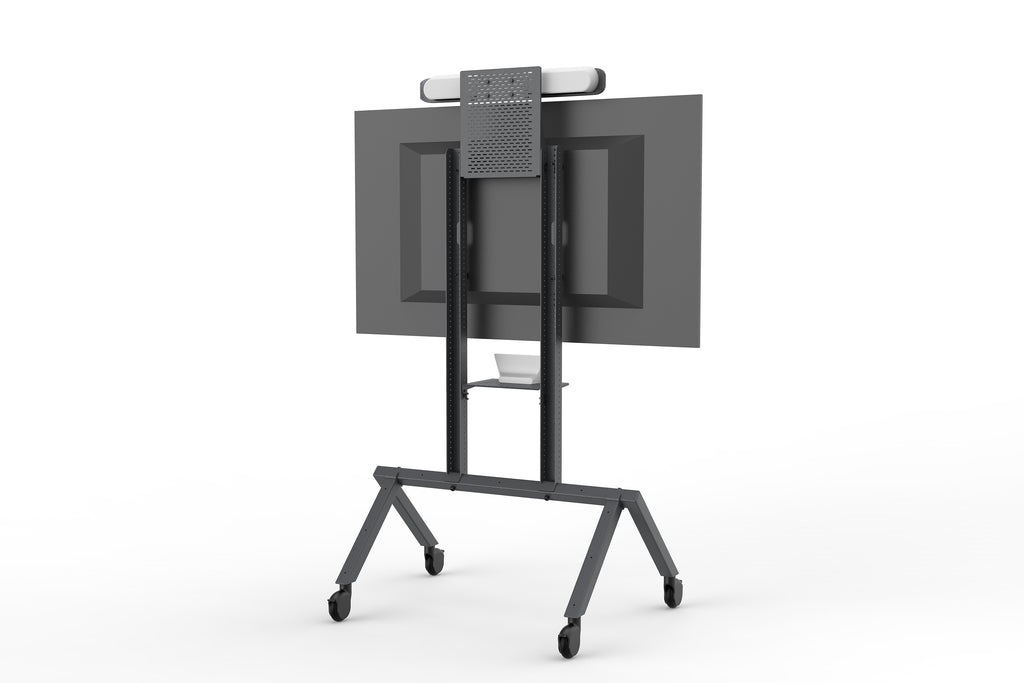 Heckler AV Cart Black Grey | Video Conferencing