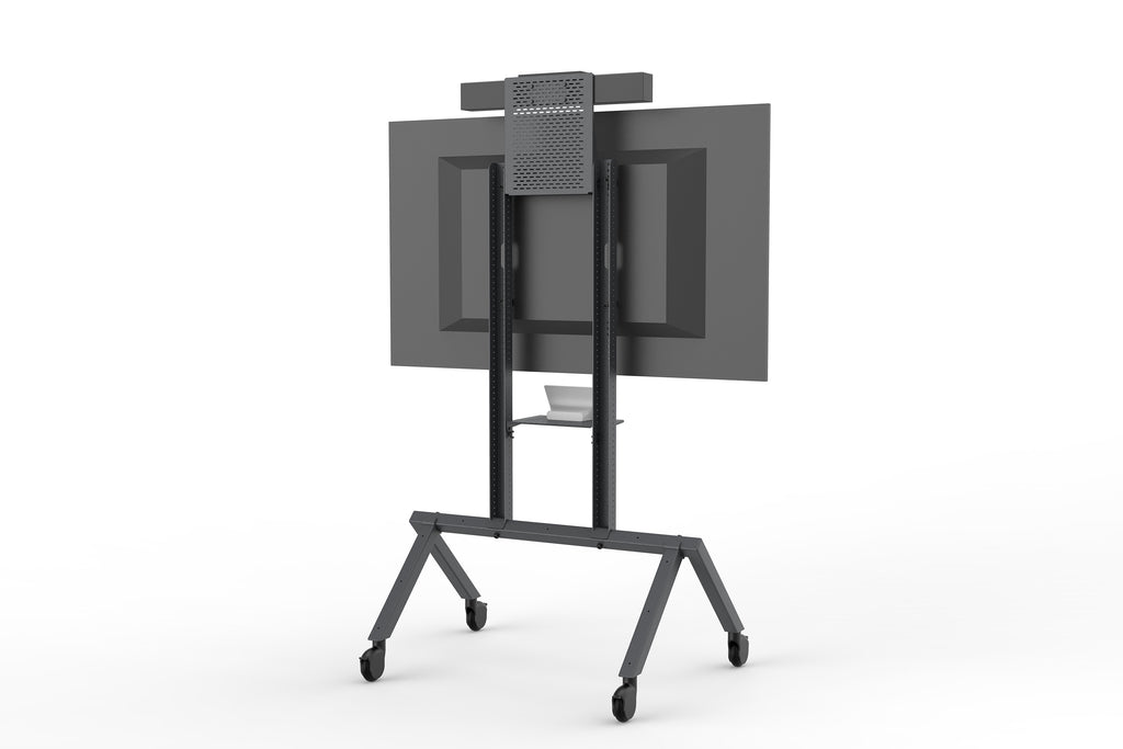 Heckler AV Cart Black Grey | Corporate Video Conferencing