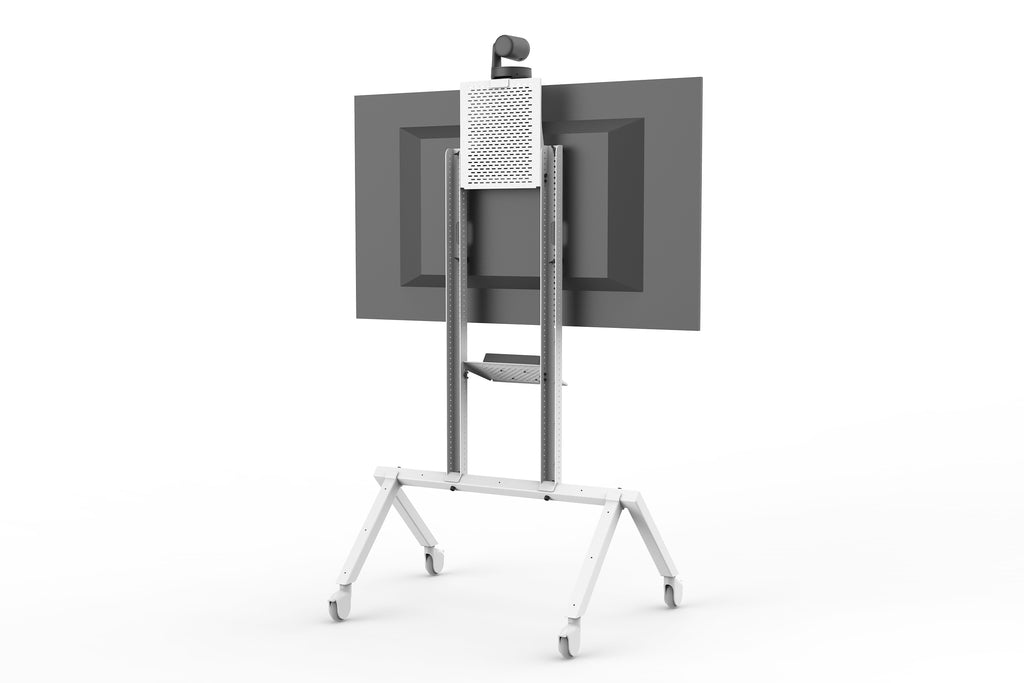 Heckler AV Cart Grey White | Simple AV Design