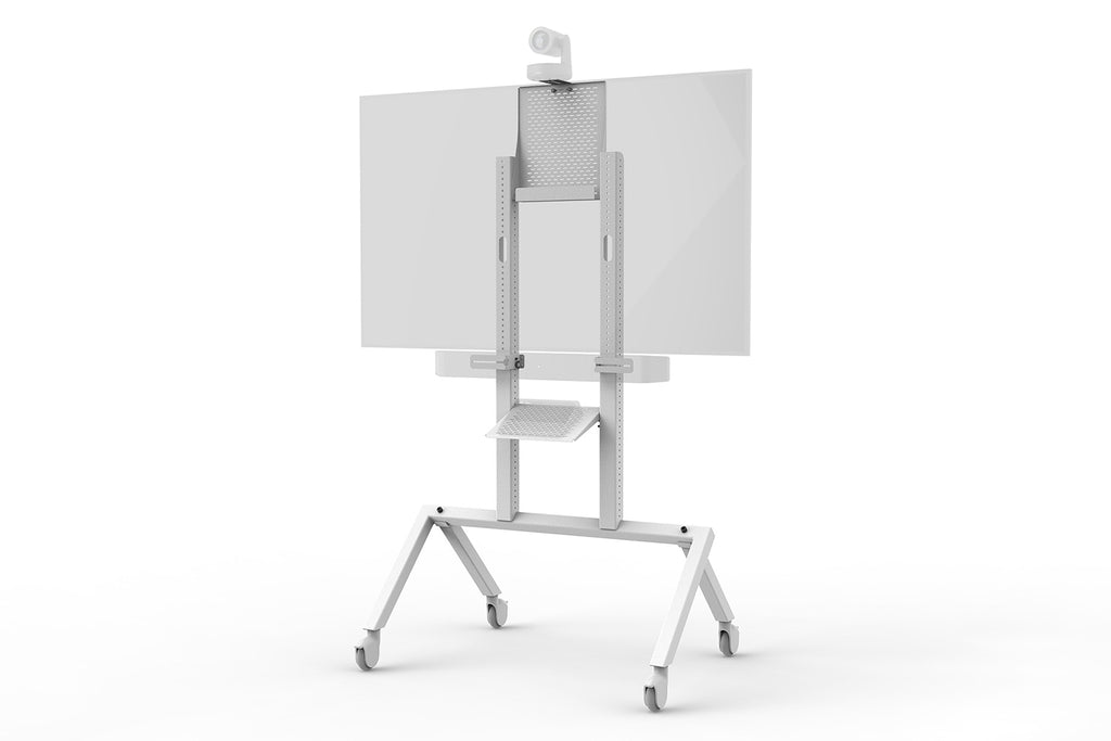 Heckler AV Cart Grey White - H700-WT