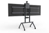 Dual Display Kit for Heckler AV Cart - Black Grey | Modern Design